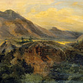View Of Bagneres De Luchon. Pyrenees by Jules Coignet