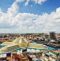 View Of Central Market Landmark In Phnom Penh City Cambodia by Jacek Malipan