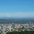 View Of Downtown Portland Oregon From Pittock Mansion by Robert Bellomy
