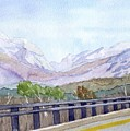 View Of Franconia Notch by Sharon E Allen