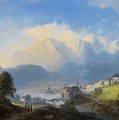 View Of Gmunden On Traunsee by MotionAge Designs