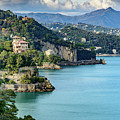 View Of Italian Riviera From Portofino, Italy by Global Light Photography - Nicole Leffer