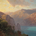 View Of Lac De Lucerne Seen From The Seelisberg, Switzerland by Alexandre Calame