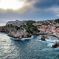 View Of Lovrjenac Fort With A Dramatic Sky In Dubrovnik, Croatia by Global Light Photography - Nicole Leffer