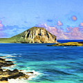 View Of Makapuu And Rabbit Island by Dominic Piperata