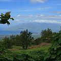 View Of Mauna Kahalewai West Maui From Keokea On The Western Slopes Of Haleakala Maui Hawaii by Sharon Mau