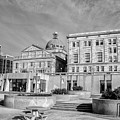 View Of Montgomery County Courthouse From The Southside In Black by Bill Cannon