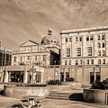 View Of Montgomery County Courthouse From The Southside In Sepia by Bill Cannon