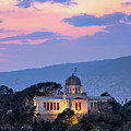 View Of National Observatory Of Athens In The Evening, Athens, G by Andrey Omelyanchuk