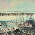 View Of New York From Brooklyn Heights Ca. 1836, John William Hill by Artistic Panda