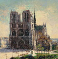 View Of Notre by Gustave Loiseau