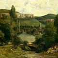 View Of Ornans, Mid-1850s by Gustave Courbet
