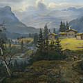 View Of Oylo Farm, Valdres by Johan Christian Dahl
