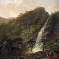 View Of Powerscourt Waterfall by George the Elder Barret