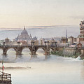 View Of Rome by I Martin