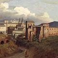 View Of Saint John Lateran Rome by Joseph Desire Court