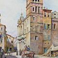 View Of Santa Maria In Monticelli, Rome  by Ettore Roesler Franz