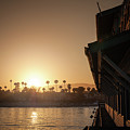View Of Setting Sun Over Santa Barbara, Ca by Bradley Hebdon