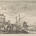 View Of Several Houses Facing The Port by Stefano Della Bella