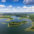 View Of Small Islands On The Lake In Masuria And Podlasie  by Mariusz Prusaczyk