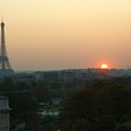 View Of Sunset From The Louvre by Christine Jepsen