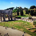 View Of The Arch Of Constantine From The Colosseum by Angela Rath