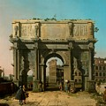 View Of The Arch Of Constantine With The Colosseum by Mountain Dreams
