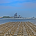 View Of The Battleship New Jersey From Philadelphia by Bill Cannon