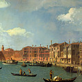 View Of The Canal Of Santa Chiara by Canaletto