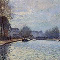View Of The Canal Saint-martin Paris by Alfred Sisley