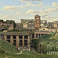 View Of The Cloaca Maxima - Rome by Christoffer Wilhelm Eckersberg