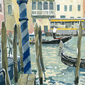 View Of The Grand Canal In Venice by Sakurov Igor