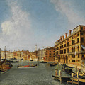 View Of The Grand Canal Venice With The Fondaco Dei Tedeschi by Michele Marieschi