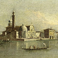 View Of The Isola Di San Michele In Venice by Attributed to Giacomo Guardi