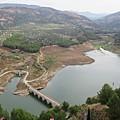 View Of The Lake In Iznajar by Chani Demuijlder