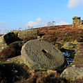 View Of The Mother Cap Gritstone Rock Formation, Millstone Edge by Dave Porter