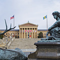 View Of The Museum Of Art In Philadelphia From The Parkway by Bill Cannon