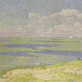 View Of The River Scheldt by Theo van Rysselberghe