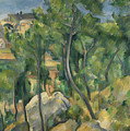 View Of The Sea At L'estaque by Paul Cezanne