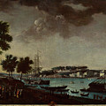 View Of The Town And Port Of Bayonne by MotionAge Designs