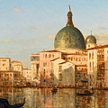 View Of Venice With San Simeone Piccolo by Felix Ziem