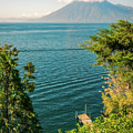 View Of Volcano San Pedro With A Crown Of Clouds In Guatemala by Daniela Constantinescu