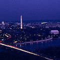 View Of Washington D.c. At Night by Kenneth Garrett