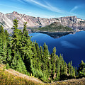 View Of Wizard Island Crater Lake by Frank Wilson