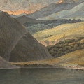 View On Lake Maggiore At Evening by Francis Towne