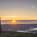 View Over The Hope Valley From Mam Tor At Dawn by Neil Alexander