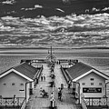 View Over The Pier Mono by Steve Purnell