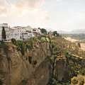 View Over The Tajo Gorge Ronda Home Of Bullfighting by Mal Bray