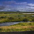 View Towards Lake Myvatn Iceland by Elizabetha Fox