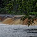 Viewing Tahquamenon Lower Falls Upper Peninsula Michigan 02 by Thomas Woolworth
